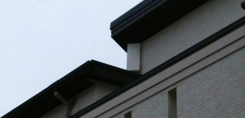 新築木造2階建てのテレビアンテナ(デザインアンテナ)工事のご紹介です【埼玉県川越市の施工例】