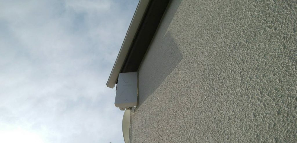 デザイン+BSセット(ブースター)外壁設置工事が完了しました(東京都国分寺)