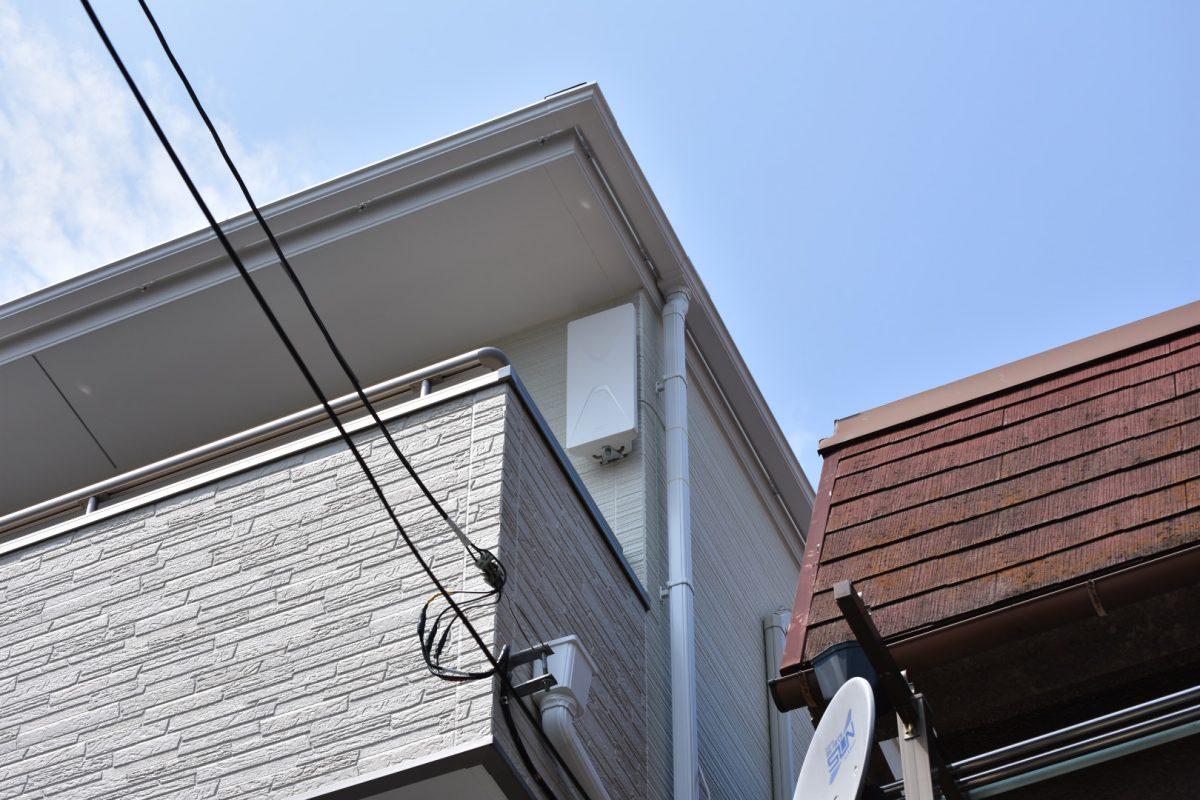 どんな壁材にもピッタリなデザインアンテナ-さいたま市緑区のデザインアンテナ工事